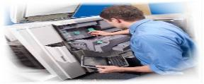 Copier repair service techncian